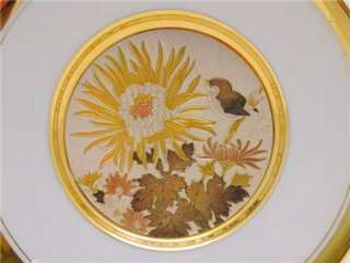 CHOKIN Plate ART 24 K Gold Porcelain Plate Japan LAL Bird by Large