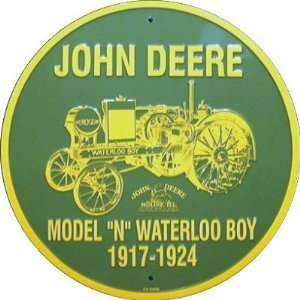 John Deere Model N Waterloo Boy Circle Sign: Automotive