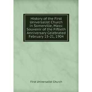 History of the First Universalist Church in Somerville
