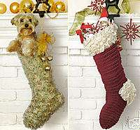 15+free crochet christmas stocking patterns