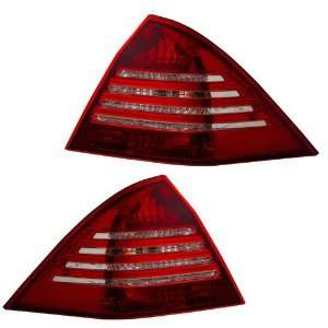 2005 Mercedes Benz W203 KS Red/Clear Tail Lights Automotive