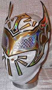 WWE SIN CARA Officially Licensed White / Gold Replica MASK