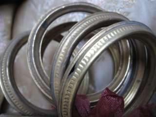 BUNDLE SHABBY CHIC ANTIQUE FRENCH TOLE METAL OLD GOLD CURTAIN RINGS