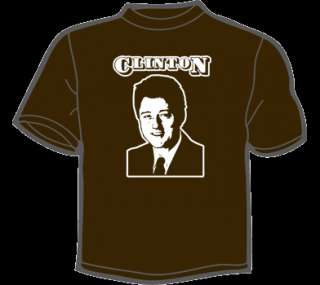 BILL CLINTON T Shirt MENS funny vintage retro 80s 90s