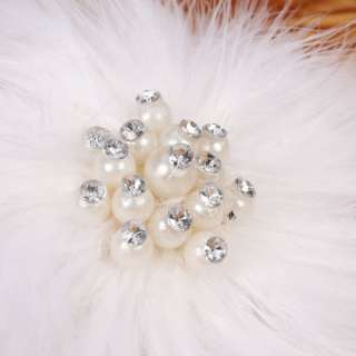 Wedding Bride Bridal Headdress Flower Pearl with Hair Clip Sale