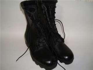 1987 COMBAT BOOTS MEN 7 R WOMEN 8.5 BLACK LEATHER VTG MILITARY NWOT