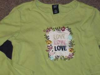 Girl LS Tops Lands End Snowflake GAP ~Love~ 6 7 8 EUC