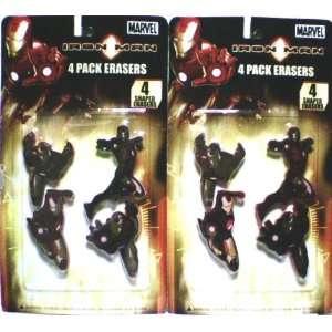 MARVEL COMICS IRON MAN SHAPED ERASER SET (2 PACKS) Marvel