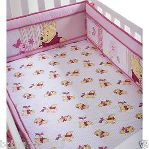 Disney so Sweet Pooh Baby Crib Sheet Pink Girls Nursery