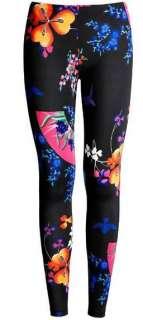 Floral Prints stretch leggings pants tights Cotton Spandex HOT