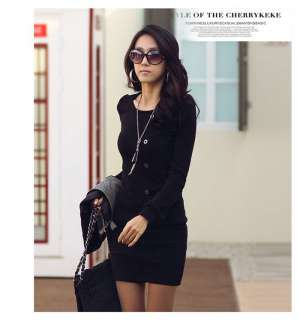 Women Sexy Long Sleeve Casual Mini Dress Cocktail Party Dress One