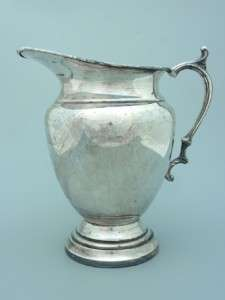 Antique Silver Plated Copper Cold Drink Pitcher Jug