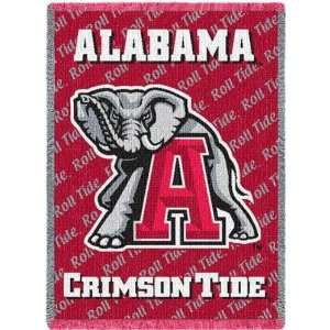 University of Alabama Crimson Tide Mascot Mini Throw 35 x