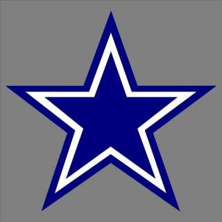Blue Cowboys Star Logo Car Truck Decal Window Sticker