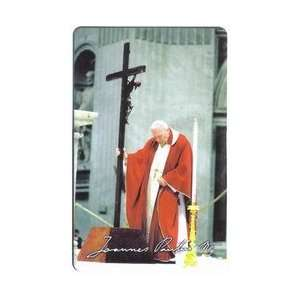 Card Pope John Paul II Holy Father With The Cross