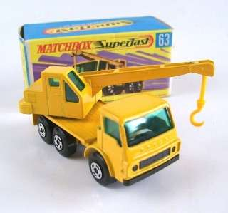 MATCHBOX SUPERFAST 63 DODGE CRANE TRUCK, 1971, MIB!