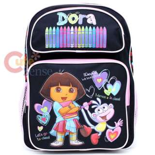 Dora The Explorer Dora & Boots School Backpack Large Crayon Black