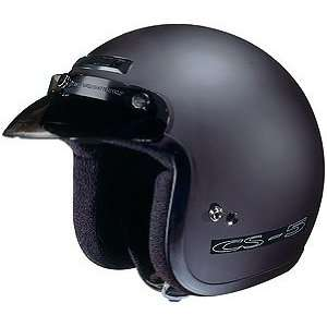 HJC CS 5 Open Face Motorcycle Helmet Flat Black Medium