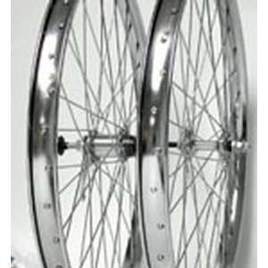 26x2.125, Rear, B/O, C/B, H/D, Chrome Steel Wheel