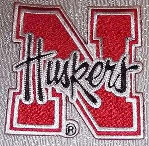 NCAA NEBRASKA HUSKERS University Red/Black Logo Embroidered PATCH