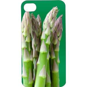 Clear Hard Plastic Case Custom Designed Great Green Asparagus iPhone