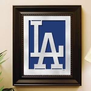 Los Angeles Dodgers Framed Laser Cut Logo Wall Art Sports