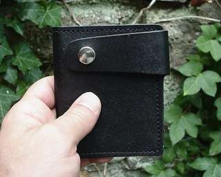 MENS LADIES BLACK LEATHER SECRET BIFOLD BOOT WALLET NEW