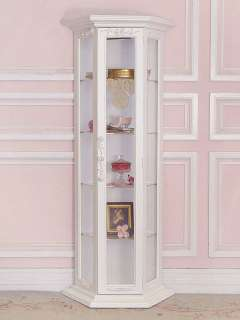Cool White Curio Cabinet Glass Doors Model