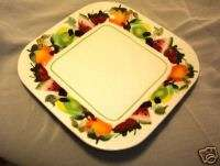 SONOMA GLASS SQUARE SERVING TRAY WITH FRUIT DESIGN
