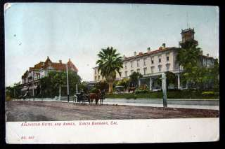 Santa Barbara CA~1906 ARLINGTON HOTEL ~ Horse Carriage