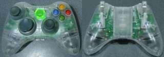 NEW Custom Xbox 360 Wireless Controller   Crystal Clear Shell   BEST