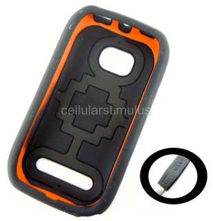 New OEM T Mobile Black D3O Flex Hard Gel Case Nokia Lumia 710 + Free