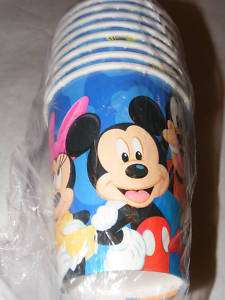 Mickey Minnie Mouse Daisy Donald Duck Goofy Party Cups