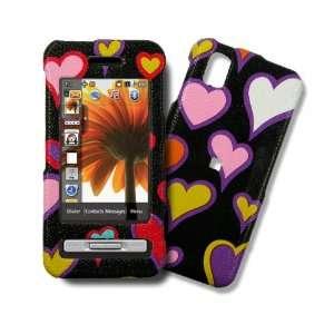 Samsung Finesse, R810 Hearts on Black Design Hard Case