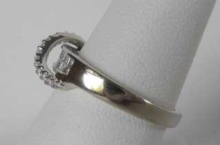 GOLD .70 CT PRINCESS+ROUND DIAMOND WEDDING?BAND RING~SZ 7.5~NEW