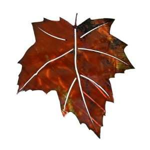 Autumn Maple Leaf Metal Wall Sculpture