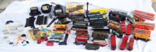 Huge LOT MARX LIONEL BACHMANN Pre War TRAINS SWITCHES TRACK CARS BOXES