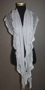Garcons comme le fashion Lace x cotton Trim ruffles wide des Scarf