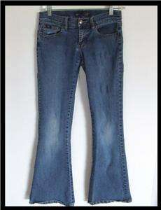 Roxy Stretch Flare Jeans Womens SZ 1 deco stitch pocket