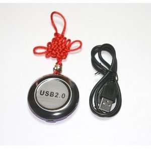 Mini Lucky Round 4 port 480 Mbps High Speed USB 2.0 Hub