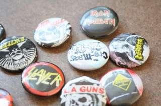 27 Rare Vintage Pins Buttons US Pinbacks Punk Rock/Rock/Metal