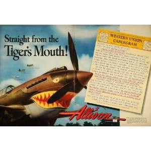 Military Aircraft Engines World War II Fighter Bomber Jet Tigers