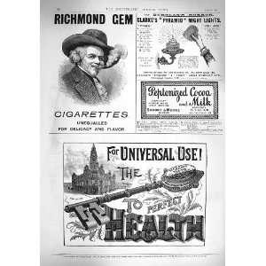 1895 ADVERTISEMENT RICHMOND CIGARETTES BEECHAMS PILLS