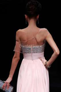 Charming Womens One Shoulder Formal Prom Dress Party Ball Evening Gown