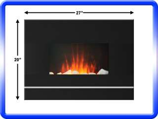 ELECTRIC WALL MOUNT FIREPLACE W/ REMOTE 650/1350 WATT 628586645684