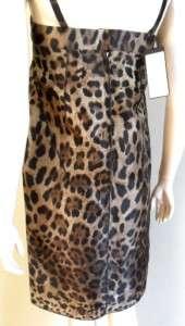 NWT DOLCE & GABBANA BROWN SILK LEOPARD DRESS 40 / M