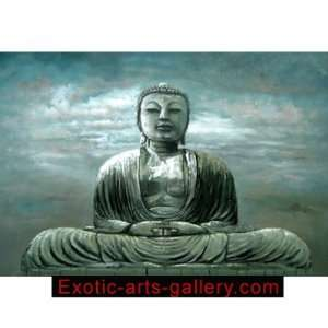 Meditation Painting Sitting Buddha Painting Feng Shui