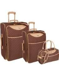 Pierre Cardin Signature 3 Piece Luggage Set (Brown)