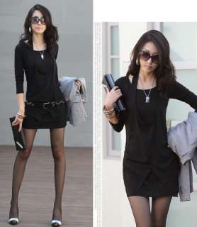 Black / Red / Grey Plus size Long Sleeve Dress L XXXL