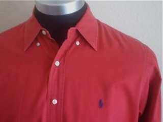 Mens Ralph Lauren Dark Red Long Sleeve shirt L LOOK